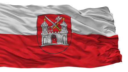 Tartu City Flag, Country Estonia, Isolated On White Background