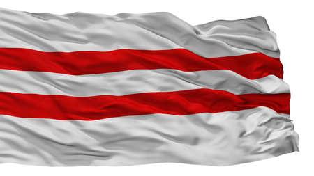 Moisakula City Flag, Country Estonia, Isolated On White Background