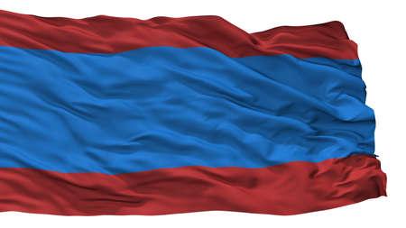 Sindi City Flag, Country Estonia, Isolated On White Background