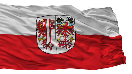 Salzwedel City Flag, Country Germany, Isolated On White Background