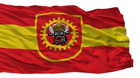 Grevesmuhlen City Flag, Country Germany, Isolated On White Background Stock Photo