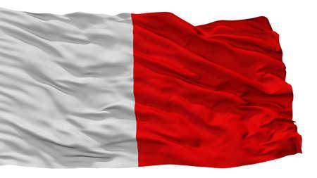 Bari City Flag, Country Italy, Isolated On White Background Stock Photo