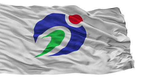 Agano City Flag, Country Japan, Niigata Prefecture, Isolated On White Background