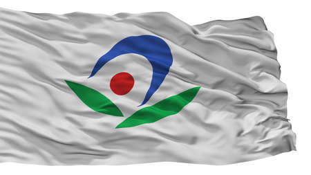 Akiruno City Flag, Country Japan, Tokyo Prefecture, Isolated On White Background