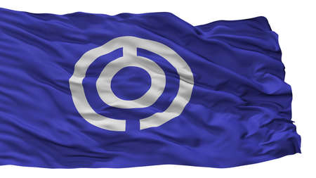 Ishigaki City Flag, Country Japan, Okinawa Prefecture, Isolated On White Background 写真素材