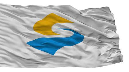 Sado City Flag, Country Japan, Niigata Prefecture, Isolated On White Background Banco de Imagens