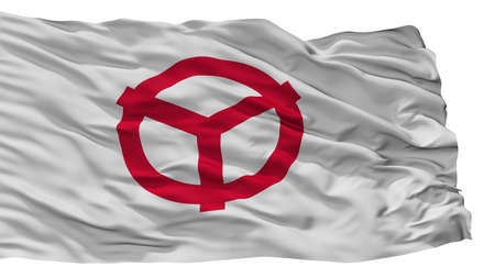 Yao City Flag, Country Japan, Osaka Prefecture, Isolated On White Background 免版税图像
