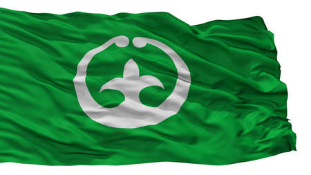Tsuchiura City Flag, Country Japan, Ibaraki Prefecture, Isolated On White Background