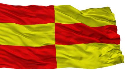 Briceni City Flag, Country Moldova, Isolated On White Background Stock Photo