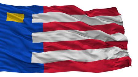 Baarle Nassau City Flag, Country Netherlands, Isolated On White Background Stock Photo