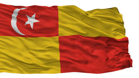Selangor City Flag, Country Malaysia, Isolated On White Background
