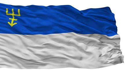 Edine City Flag, Country Moldova, Isolated On White Background