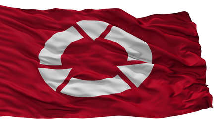 Ryugasaki City Flag, Country Japan, Ibaraki Prefecture, Isolated On White Background
