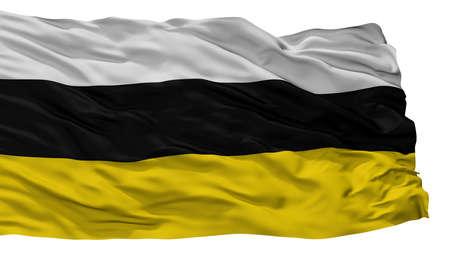 Tarnowskie Gory City Flag, Country Poland, Isolated On White Background