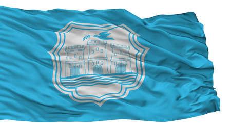 Novi Sad City Flag, Country Serbia, Isolated On White Background