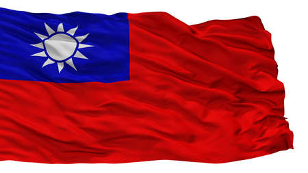Republic Of China City Flag, Country Taiwan, Isolated On White Background Stock Photo