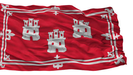 Aberdeen City Flag, Country Uk, Isolated On White Background Stock Photo