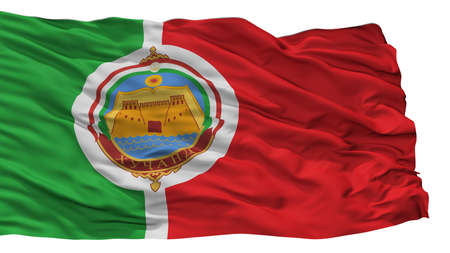 Khujand City Flag, Country Tajikistan, Isolated On White Background