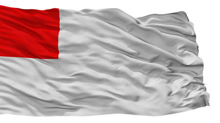 Bilbao City Flag, Country Spain, Isolated On White Background