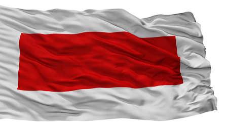 Sharjah City Flag, Country United Arab Emirates, Isolated On White Background