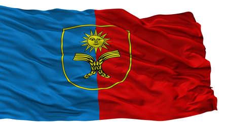 Khmelnytskyi Oblast City Flag, Country Ukraine, Isolated On White Background Stock Photo