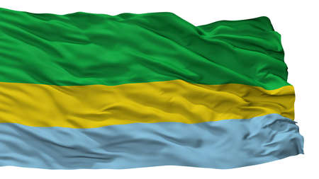 Valle Del Guamuez La Hormiga City Flag, Country Colombia, Putumayo Department, Isolated On White Background