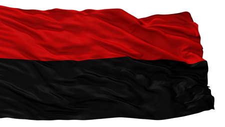 Jauregui City Flag, Country Venezuela, Isolated On White Background