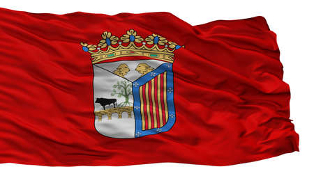 Salamanca City Flag, Country Spain, Isolated On White Background Stock Photo