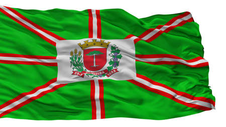 Curitiba City Flag, Country Brasil, Isolated On White Background Imagens
