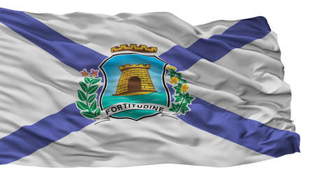 Fortaleza City Flag, Country Brasil, Isolated On White Background Imagens - 106908530