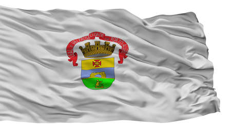 Porto Alegre City Flag, Country Brasil, Isolated On White Background