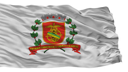 Santos City Flag, Country Brasil, Isolated On White Background Imagens - 106908536
