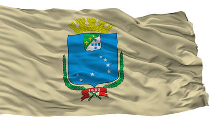 Sao Luis City Flag, Country Brasil, Isolated On White Background