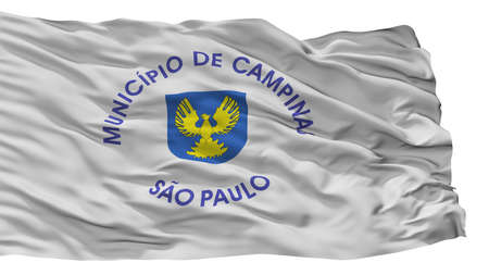 Campinas City Flag, Country Brasil, Isolated On White Background