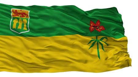 Saskatchewan Province City Flag, Country Canada, Isolated On White Background