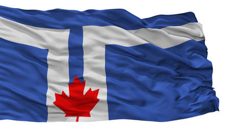 Toronto  City Flag, Country Canada, Isolated On White Background