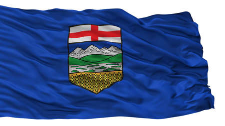 Alberta City Flag, Country Canada, Isolated On White Background
