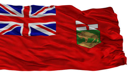 Manitoba City Flag, Country Canada, Isolated On White Background