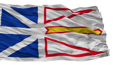 Newfoundland And Labrador City Flag, Country Canada, Isolated On White Background Stock Photo