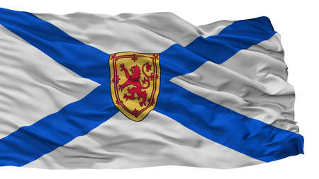 Nova Scotia City Flag, Country Canada, Isolated On White Background Stock Photo