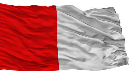 Cork City Flag, Country Ireland, Isolated On White Background