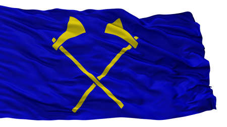 Saint Helier City Flag, Country Jersey, Isolated On White Background
