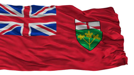 Ontario City Flag, Country Canada, Isolated On White Background Stock Photo