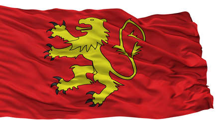 Valletta City Flag, Country Malta, Isolated On White Background 写真素材