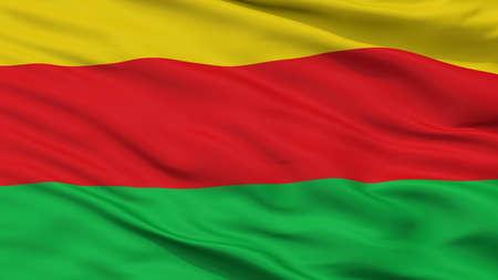 Bilzen City Flag, Country Belgium, Closeup View Stock Photo
