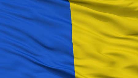 Herve City Flag, Country Belgium, Closeup View