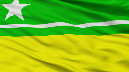 Boa Vista City Flag, Country Brasil, Roraima, Closeup View