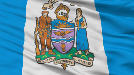 Edmonton City Flag, Country Canada, Closeup View Stock Photo
