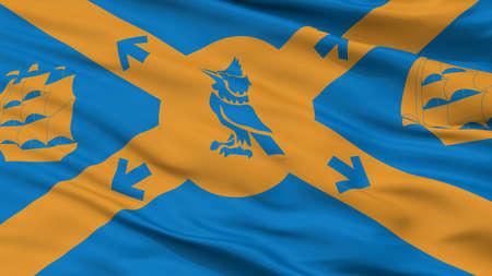 Halifax  City Flag, Country Canada, Closeup View