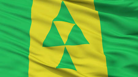 Prince Albert City Flag, Country Canada, Saskatchewan Province, Closeup View Stock Photo